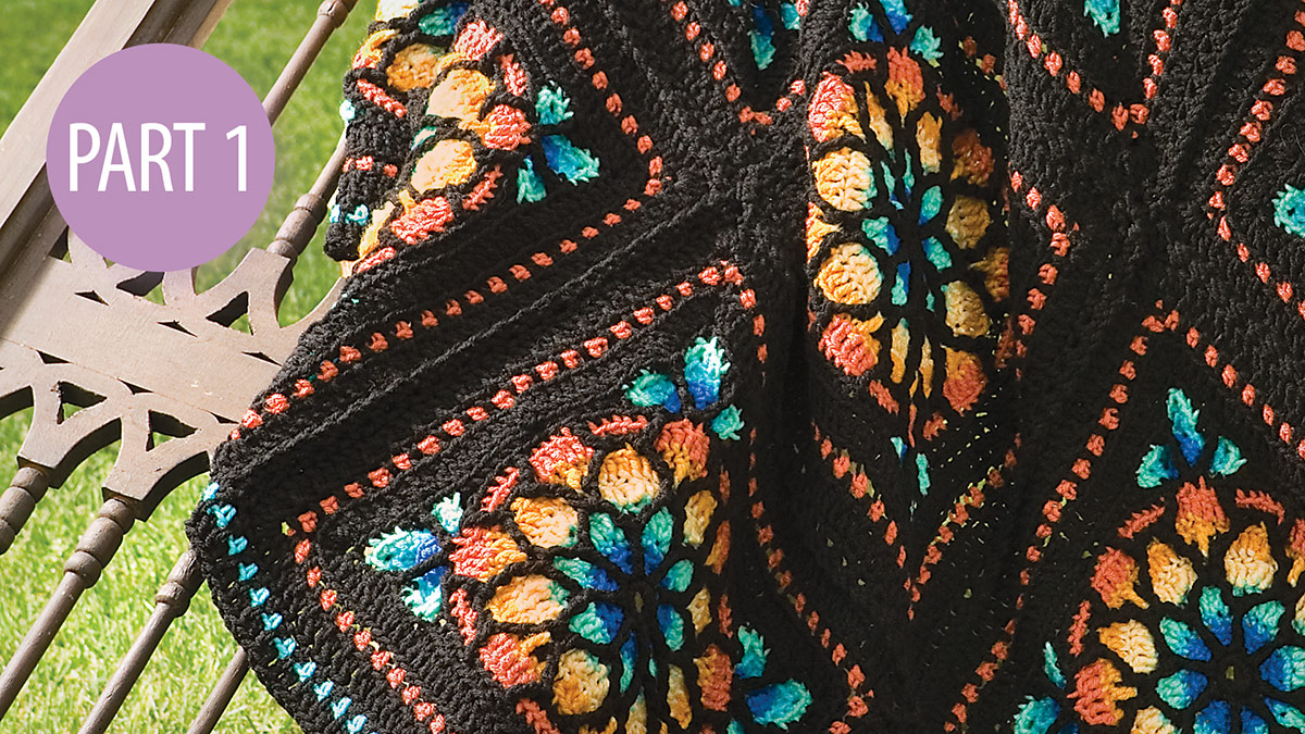 Stained Glass Afghan: Part 1 video