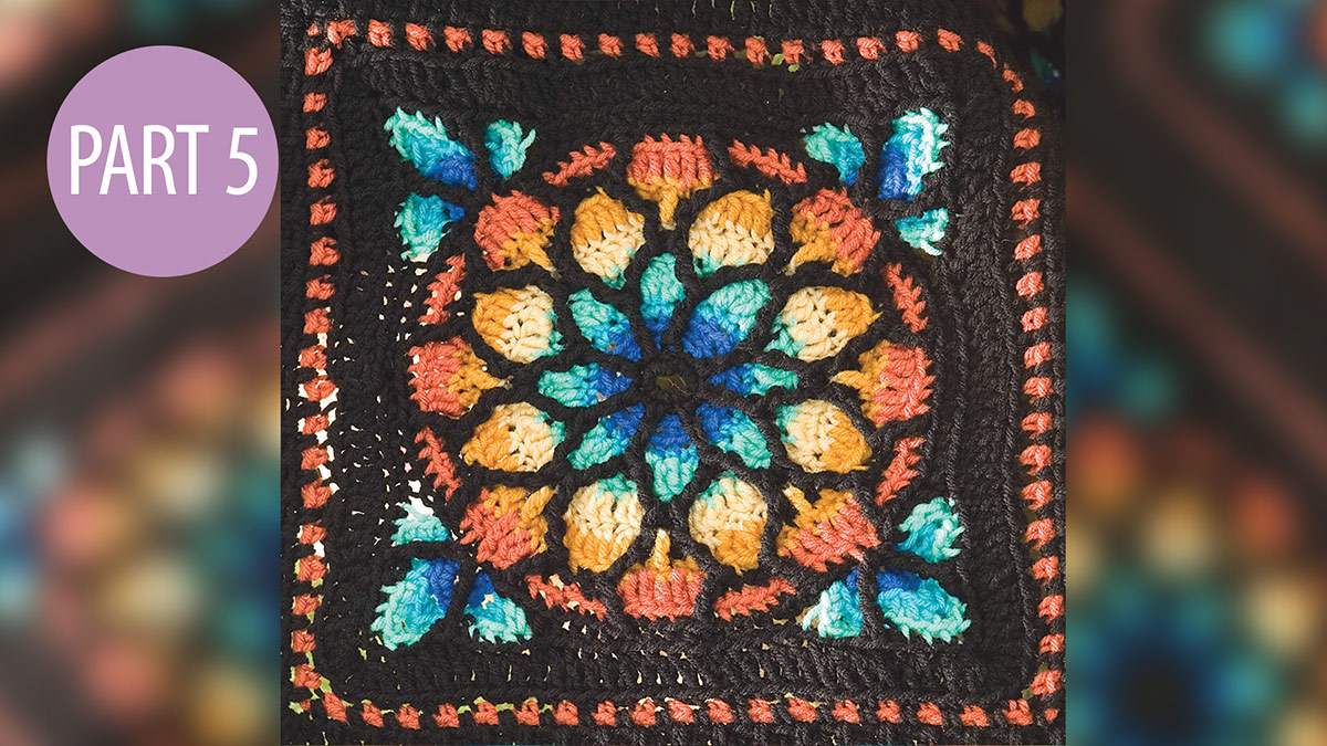 Stained Glass Afghan: Part 5 video