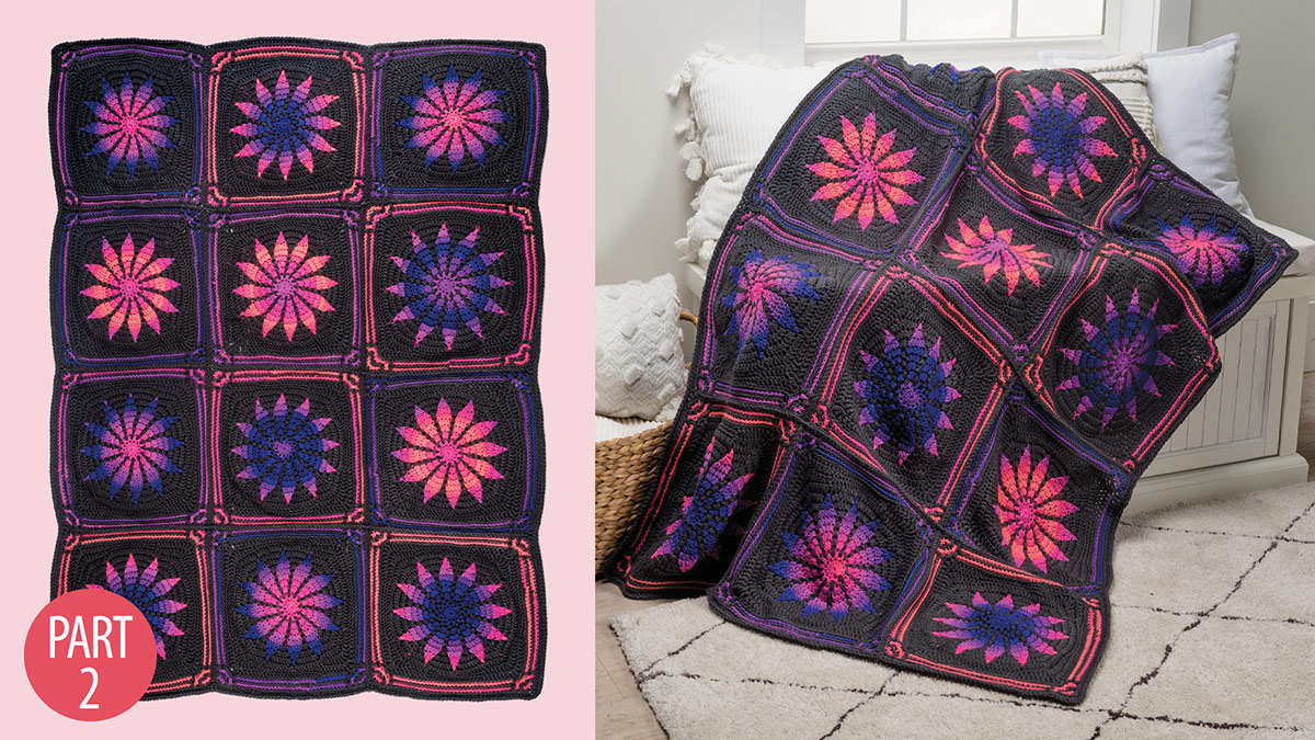 Gothic Rose Afghan: Part 2 video