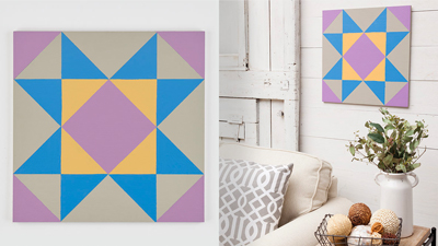 Paint a Quilt Block Wall Hanging