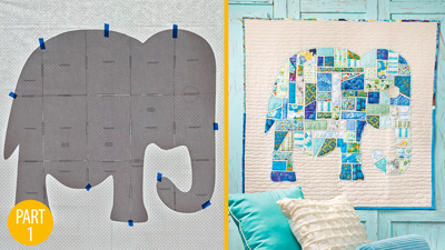 Ticker-Tape Elephant Wall Hanging: Part 1